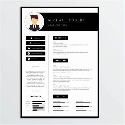 Vector Template Resume Corporate Company Profile Clipart