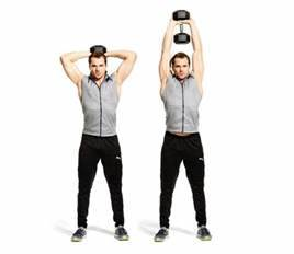 Standing Overhead Kettlebell Triceps Extension (shown with