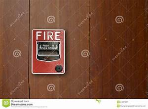 Fire Alarm Manual Pull Station  Royalty Free Stock