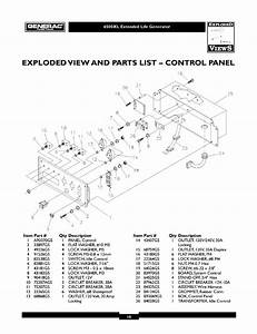 Exploded View And Parts List  U2014 Control Panel  Qty