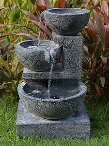Granite, Cascading, Bowls, Water, Feature