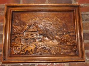 Tableau En Relief : tableau panorama r sine de bois sculpter en relief a ~ Melissatoandfro.com Idées de Décoration