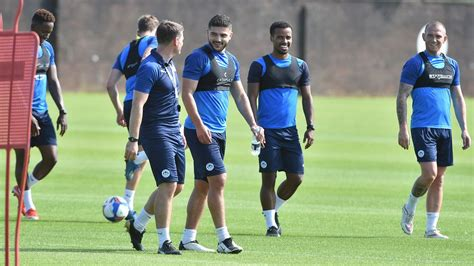 Wigan Athletic FC - First team return to Euxton for pre ...
