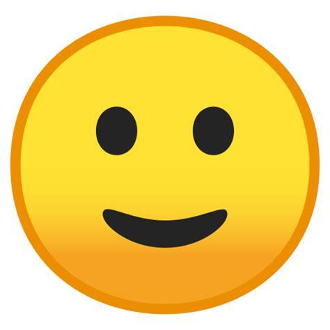 visage avec  leger sourire emoji