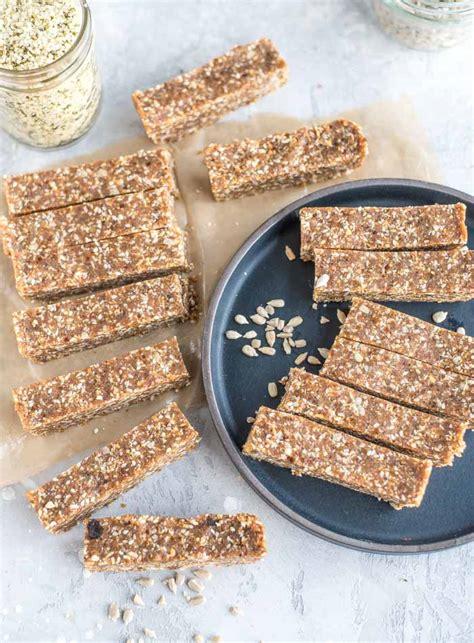 homemade energy bars recipe  sesame  hemp seeds