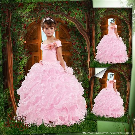 Neco Template by шаблон для девочки в розовом пышном платье хозяйка
