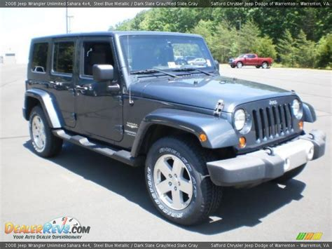 jeep dark gray 2008 jeep wrangler unlimited sahara 4x4 steel blue