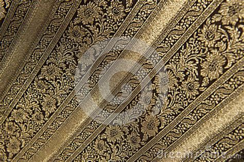 noble floral brocade fabric  gold royalty  stock