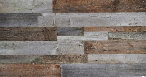 diy reclaimed wood accent wall grey  natural brown