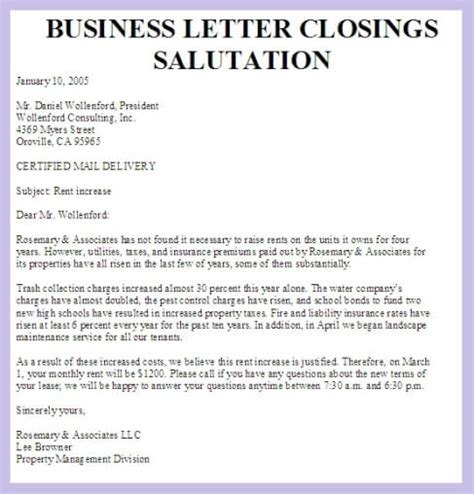 business letter closing business letters business letter exles 20736