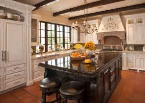 Most Popular Kitchen Cabinet Color 2014 by Spanish Colonial Remodel Mediterranean Kitchen