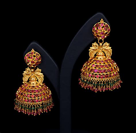 designs of designer earrings jhumka designs in gold with price