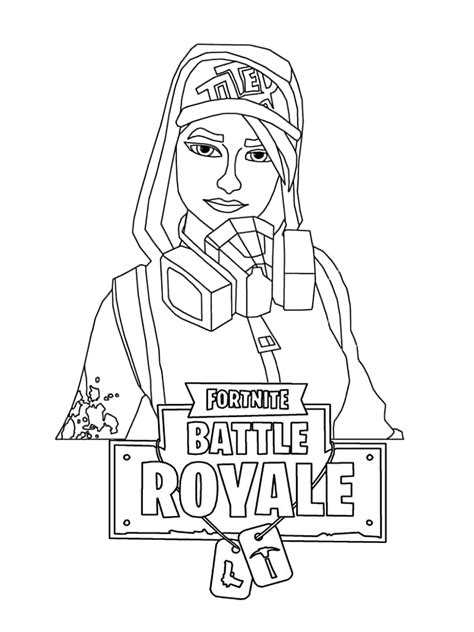 printable fortnite female characters coloring pages