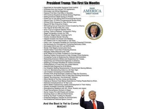 accomplishments list trump relentless promise keepin months trumps conservative play
