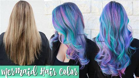 mermaid color hair mermaid hair color transformation