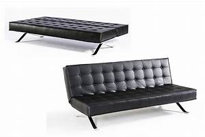 Santa fe contemporary leather sofa bed for Modern leather sofa beds
