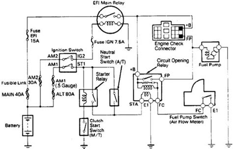 Wiring Diagrams Toyota Runner Fuel Pump