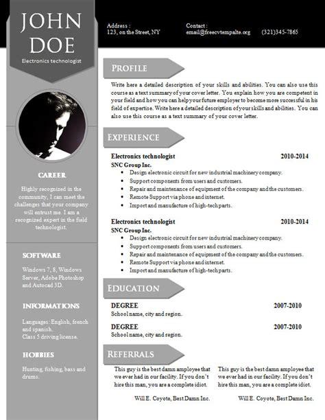 curriculum vitae resume word template 904 910 free cv