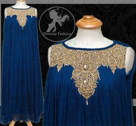 royal blue large flare party wear gown