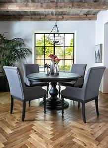 20, Ideas, Of, Caira, Black, 5, Piece, Round, Dining, Sets, With, Upholstered, Side, Chairs
