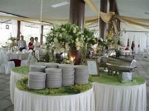 wedding buffet decoration table setup