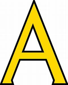 Letter a clip art at clkercom vector clip art online for Big yellow letters
