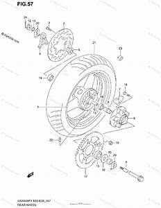 Suzuki Motorcycle 2000 Oem Parts Diagram For Rear Wheel