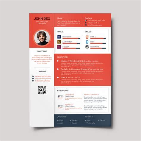 Cv Design by Design Cv Material Design Resume Creativecrunk Waseem