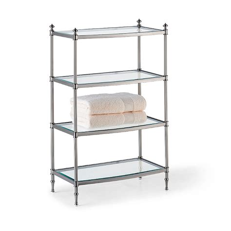Entertaining Etagere by Tempered Glass Etagere Frontgate