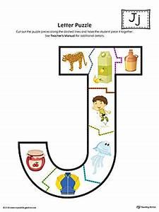 letter j puzzle printable color myteachingstationcom With letter puzzles for preschool
