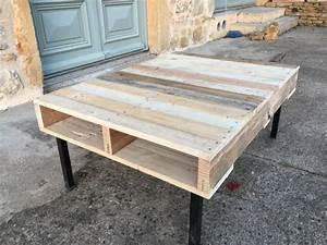 Table Basse Palettes : table basse style palettes palette cie ~ Melissatoandfro.com Idées de Décoration