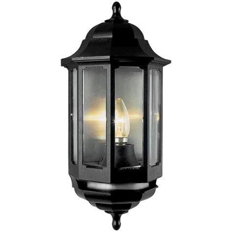 asd half lantern polycarbonate 60w bc black pir toolstation