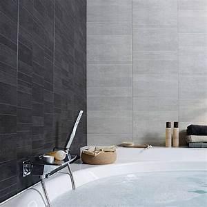 lambris pvc element s grey castorama salle de bain With porte de douche coulissante avec dalle pvc adhesive murale salle de bain