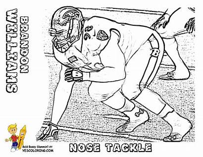 Coloring Football Pages Nfl Printable Tackle Nose
