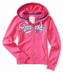 Aeropostale Womens Aero 87 Full Zip Hoodie Sweatshirt ...