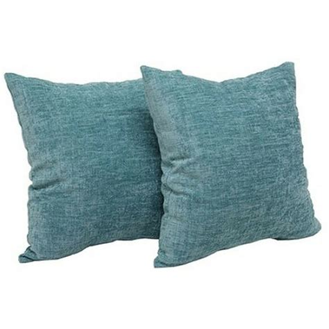Throw Pillows by Chenille Throw Pillow Set Of 2 Teal Mainstays New Free