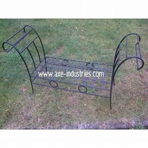 Banc En Fer : banc en fer forg fauteuils en fer forg axe industries ~ Preciouscoupons.com Idées de Décoration