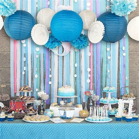 pcs blue beach themed party paper crafts decor