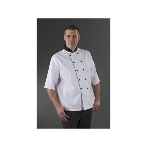 chemise de cuisine chemise de cuisine manches courtes pressions noir col noir