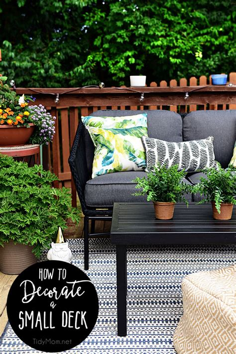 Maximize Outdoor Space Learn How To Decorate A Small Deck