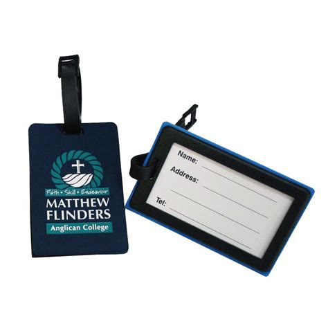custom pvc luggage tag original rectangle design