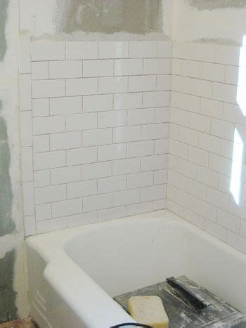 Tiling A Tub Shower by How To Install Subway Tile In A Shower Marble Floor