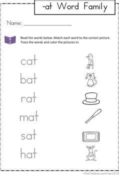 word families a line family units and