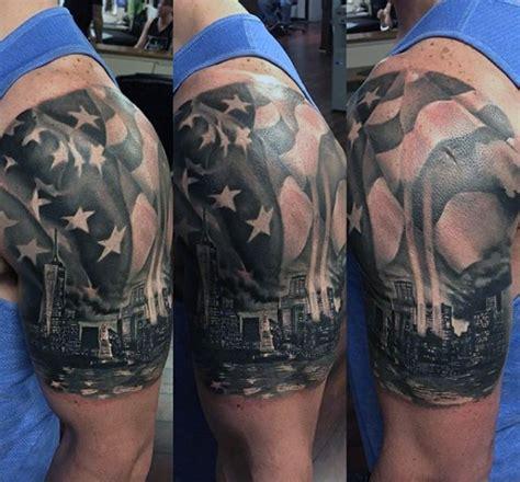 york skyline tattoo designs  men big apple ink