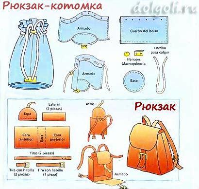 Выкройки сумок и рюкзаков из джинса