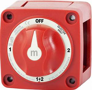 M-series Mini Selector Battery Switch - Red