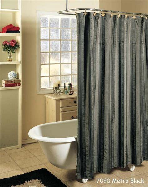 shower curtain grey metro stripe black gray fabric shower curtain free s h ebay