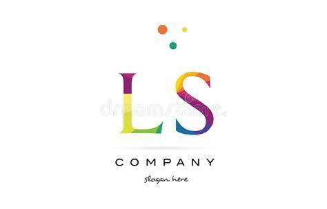 Ls L S Creative Rainbow Colors Alphabet Letter Logo Icon
