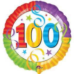 Happy 100th mylar (perfection) balloon
