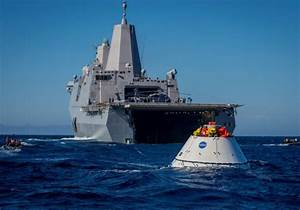 U.S.S. Anchorage poised to collect NASA's Orion spacecraft ...